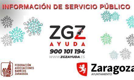 FABZ y Ayuntamiento colaboran en información y solidaridad vecinal por el coronavirus