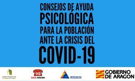 Consejos de ayuda psicológica en la crisis del coronavirus