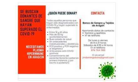 El Banco de Sangre busca donantes que hayan superado el Covid-19