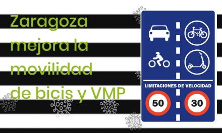 Zaragoza mejora la movilidad de bicis y VMP