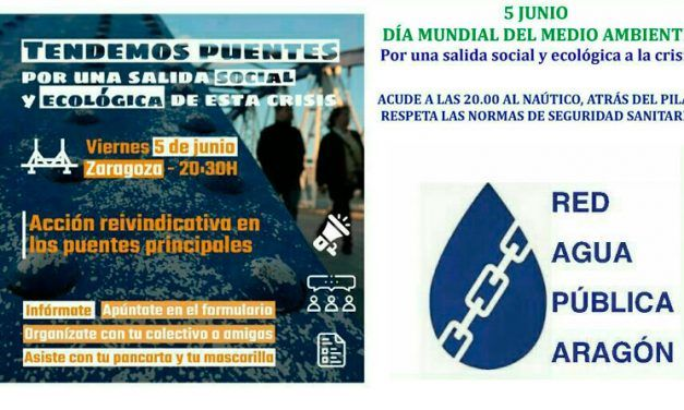 Acción reivindicativa por el Día del Medio Ambiente en los puentes