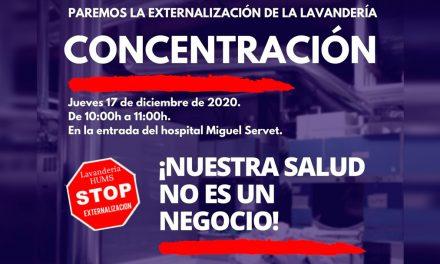 Concentración contra la privatización de la lavandería del Servet