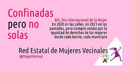"""""""Confinadas pero no solas"""" en el 8 M de 2021"""
