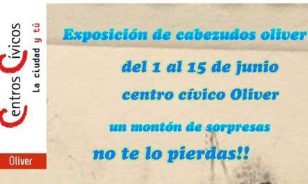 Exposición de Cabezudos en el Centro Cívico Oliver