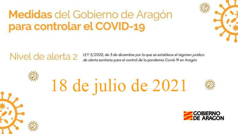 Medidas COVID 18 de junio de 2021