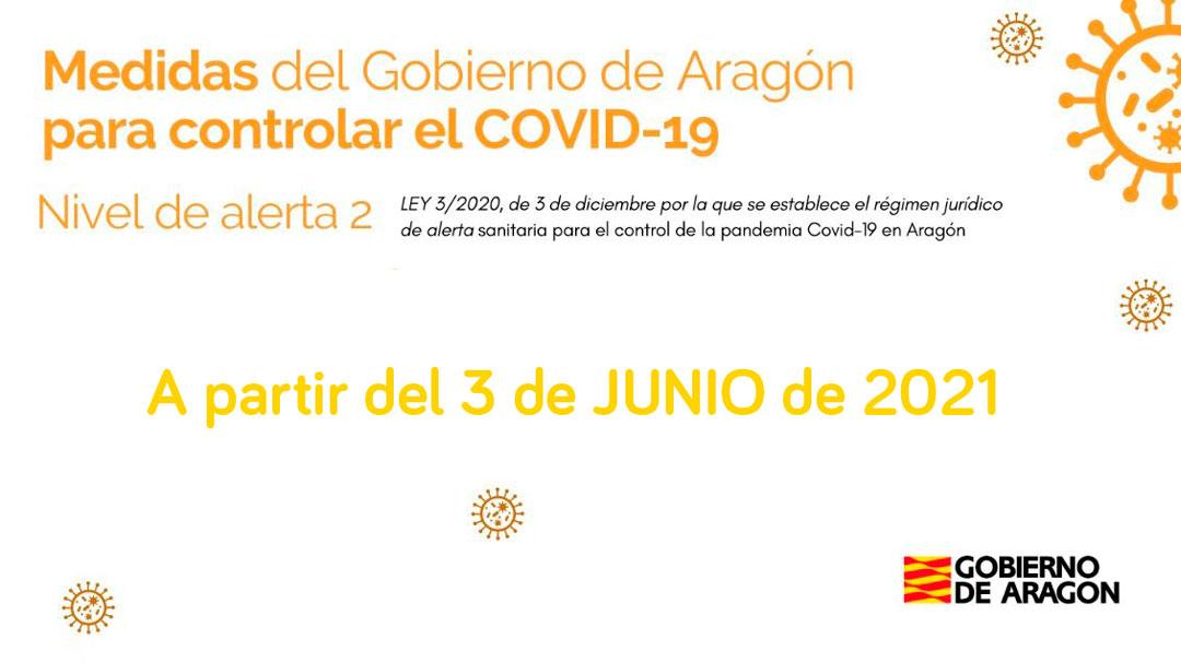 Medidas vigentes en Aragón contra el Covid a partir del 3 de junio