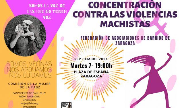 Concentración contra las violencias machistas septiembre 2021